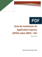 Instalación de APEX 19 sobre DBCS-OCI