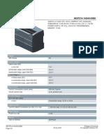 DATASHEET PLC SIEMENS S7-1200