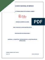 TAREA 1 UNIDAD 1 TERMINOLOGIA DE INVESTIGACION DE OPERACIONES