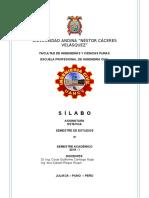 SILABO 2019 - II ESTATICA