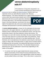 Reverse Abdominoplasty