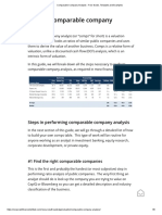 Comparable Company Analysis - 1