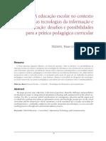TEXTO 1 - SEMANA I - EDUCAÇÃO E CURRÍCULO