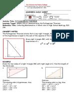 LDS Pythagorean  Theorem