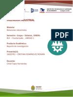 Reporte de investigacion relaciones industriales 1.1
