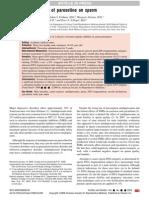 Adverse Effect of Paroxetine on Sperm