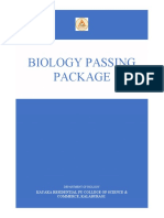 Biology Passing Material KAYAKA PU COLLEGE KALABURAGI