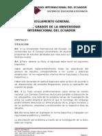 REGLAMENTOS GENERAL DE TESIS Y GRADOS DEL SISTEMA DE EDUCACIàN A DISTANCIA