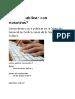 Publicar en TIERRA ADENTRO