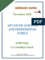 Amendments in CA Final Audit for Nov-2018