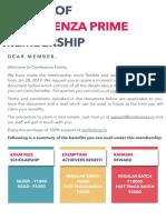 Conferenza Prime Membership