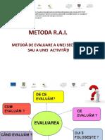 17Metoda RAI-Metoda de evaluare