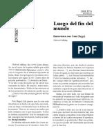 Albiac-Negri 1999 Luego del fin del mundo.