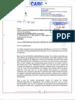 CARTA NOTARIAL N° 185514 24 ENE 2020 (MEDINA RAGGIO) a HILDEBRANDT en sus trece, 24 ENE 2020 (RECIBIDO por PLUTÓN EDITORES S.A.C.)