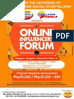 Online Influencers Forum Sponsorship Opportunities
