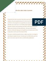 Reflexión sobre todo el proceso (infom A I)