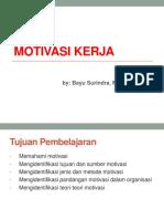 10. Motivasi Kerja
