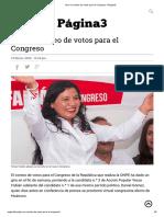 Giro en conteo de votos para el Congreso _ Página3