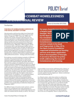 Measures to Combat Homelessness – International Review