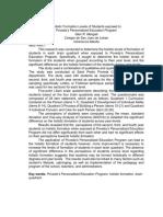HolisticFormationLevelsofStudentsExposedtoPovedasPersonalizedEducationProgram