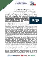 Eisspeedway Berlin 2020, Pressemitteilung 200203