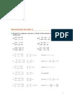 Matematicas Resueltos(Soluciones) Determinantes 2º Bachillerato Opción B
