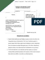 Complaint in Redfern v. Napolitano