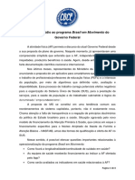 carta repúdio programa Brasil em Movimento