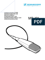 Sennheiser MD 421-II Instructions for Use