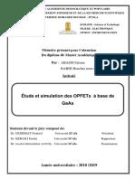 Étude et simulation des OPFETs à base de GaAs