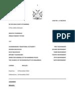 Erastus Tjiundikua and Another v Ovambanderu Traditional Authority and 5 Others.judg.A336-10.Muller J.26 Nov.10