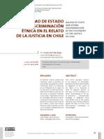 rACISMO DE ESTADO Y DISCRIMINACION ETNICA EN EL RELATO DE LA JUSTICIA CHILENA