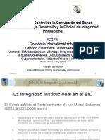 El Marco de Control de la Corrupción del Banco Interamericano de Desarrollo y la Oficina de Integridad Institucional
