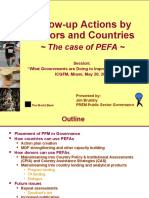Follow-Up Actions by Donors and Countries, The Case of PEFA