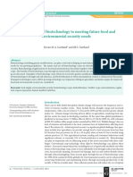 [2564615X - The EuroBiotech Journal] Contributions of biotechnology to meeting future food and environmental security needs (1)