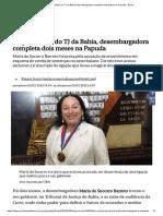 Ex-presidente Do TJ Da Bahia, Desembargadora Completa Dois Meses Na Papuda - Brasil