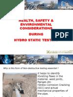 Hydrostatic Testing Safety