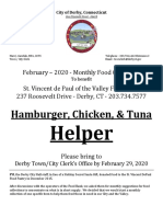 Derby Town Clerk - Food Collection - February 2020