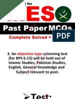 MES Past Paper-1