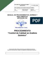 P-T-OP-MTQ-LM-020 Control de calidad en analisis quimico