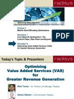 Radisys Optimizing VAS for Greater Revenue Generation