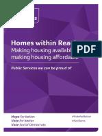 Social Democrats Election 2020 Manifesto - Housing