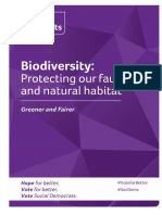 Social Democrats Election 2020 Manifesto - Biodiversity