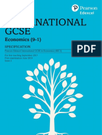 Pearson Edexcel international gcse economics