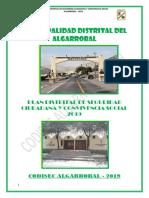 PLAN DISTRITAL DE SEGURIDAD CIUDADANA - 2019