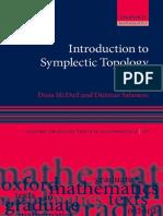 (Oxford graduate texts in mathematics 27) McDuff, Dusa_ Salamon, Dietmar - Introduction to symplectic topology-Oxford University Press (2017).pdf