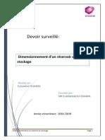 OPTIMISATION D'UN  RESERVOIR DE STOCKAGE