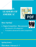 fwelcome future business leaders of america     5  feb