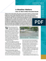 When Weather Matters, Report in Brief