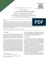 Komposit TiO2-SiO2 sebagai filler untuk kertas tipis